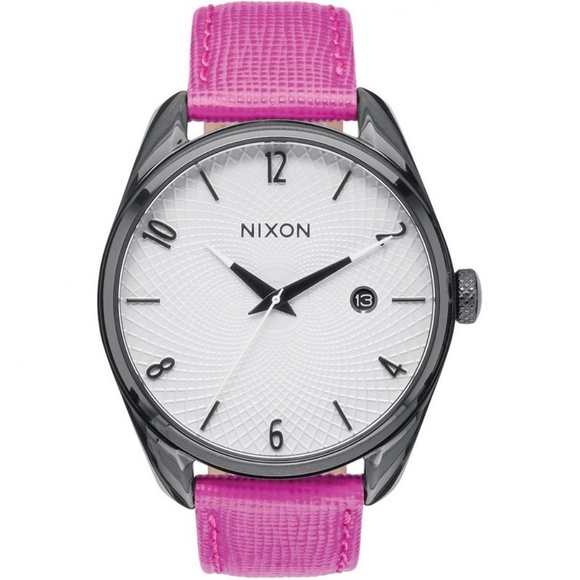 b408940a1 Nixon Accessories | A4732049 Bullet Womens Pink Leather Band Watch ...